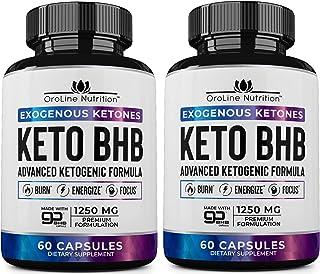 Keto Pills - [2 Pack   120 Capsules] Advanced Keto Burn Diet Pills - Best Exogenous Ketones BHB Supplement   Keto BHB Diet Pills for Women and Men - Max Strength Boost