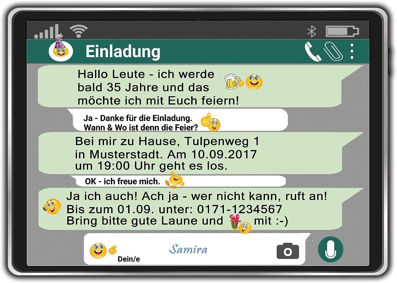 Einladungskarten zum Geburtstag als Tablet Handy Chat Einladung Geburtstag 40 Stück B01EXKGCSG | Erste Qualität