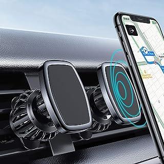 [2 Pack] LISEN Car Phone Mount Magnetic Phone Car Holder Mount, [6 Strong Magnet] [Upgraded Clip] Magnetic Phone Holder for Car 360° Rotate Vent Car Phone Holder Fit for 4-6.9 inch All Phone & Tablet