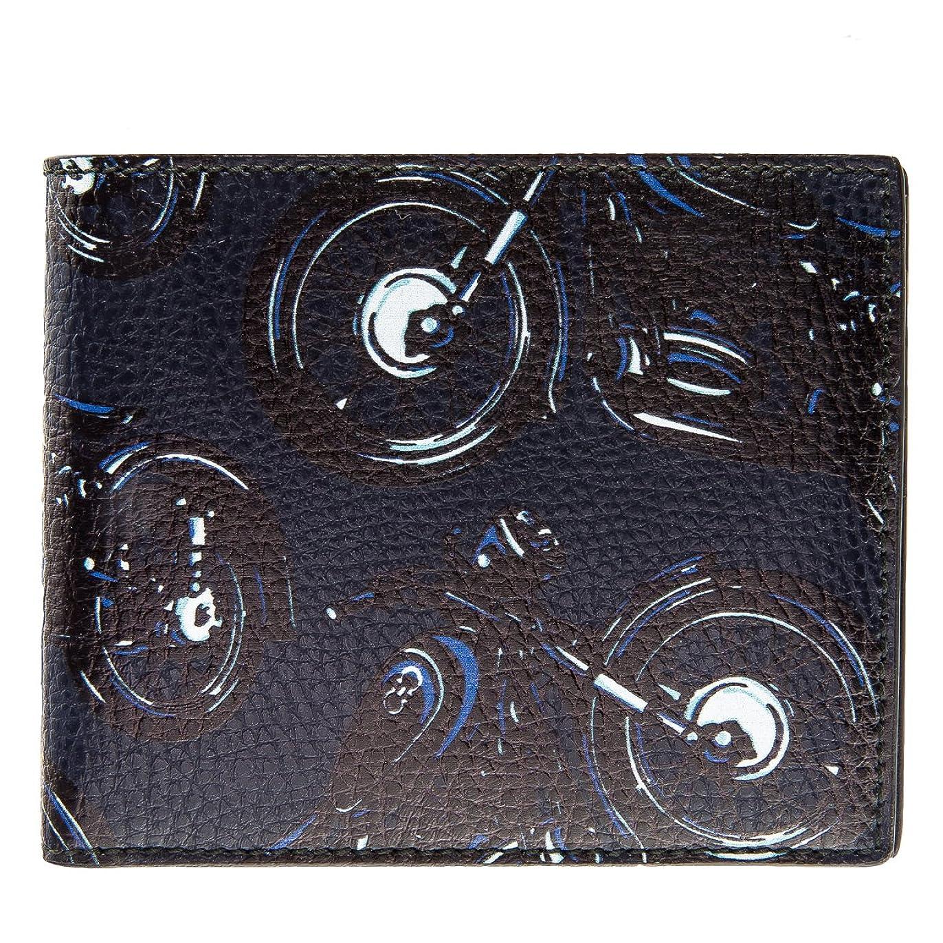 宗教的なキャッシュ思い出させるSalvatore Ferragamo(サルヴァトーレ フェラガモ) 財布 メンズ CAPSULE NOW 2つ折り財布 ネイビー×ブラック 660740-0068-0350 [並行輸入品]