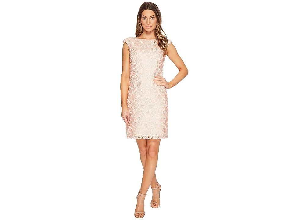LAUREN Ralph Lauren Montague Skylar Floral Dress (Pale Pink Multi) Women