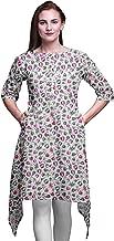 Bimba Printed Asymmetrical Kurti Tops for Women Indian Summer Dress Tunic