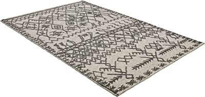 Rivet Wool Rug, 5' x 8', Gray, Charcoal