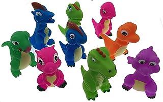 Playmaker Toys Rubber Dinosaur Family Bathtub Pals - Floating Bath Tub Toy (3 Set Assortment May Very)