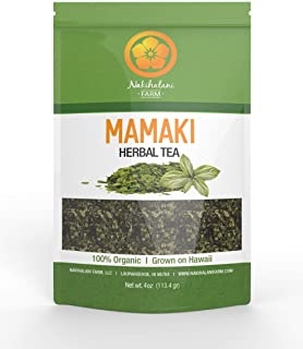 Sponsored Ad - Organically Grown Hawaiian Mamaki Tea - Nakihalani Farm 4oz - Powerful Antioxidant, Caffeine-Free Herbal Tea