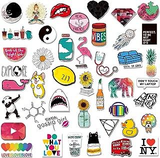 Cute Lovely Stickers for Water Bottles,Personalize Laptop, Car, Helmet, Skateboard, Luggage Graffiti Decals, Aesthetic Sticker forTeens, Girls, Women Vinyl Stickers Waterproof (A)