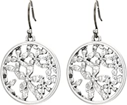 Floral Openwork Coin Drops Earrings
