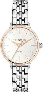TRUSSARDI Women's T Sun Analog-Quartz Stainless-Steel-Plated Strap, Silver, 16 Casual Watch (Model: R2453126503)