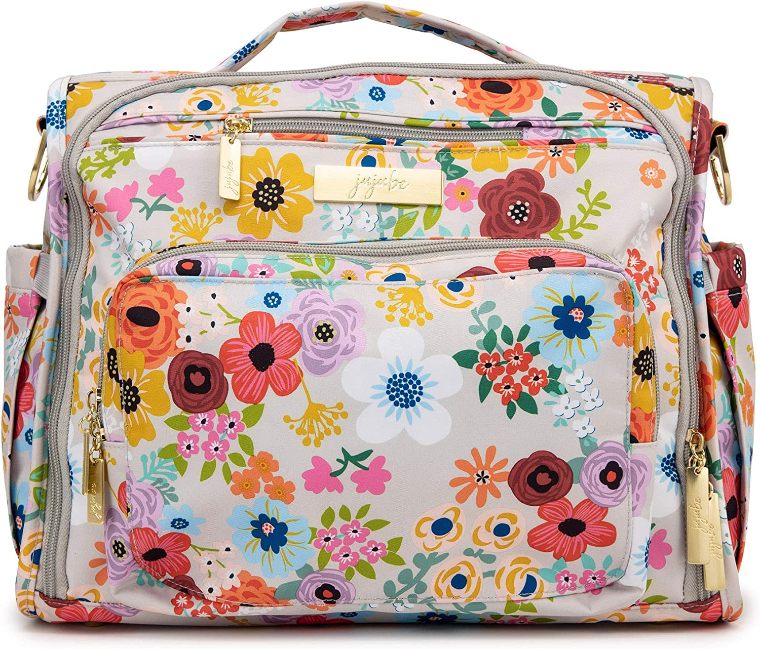 JuJuBe | BFF Convertible Diaper Backpack/Messenger Bag | Pocket Organization with Changing Pad