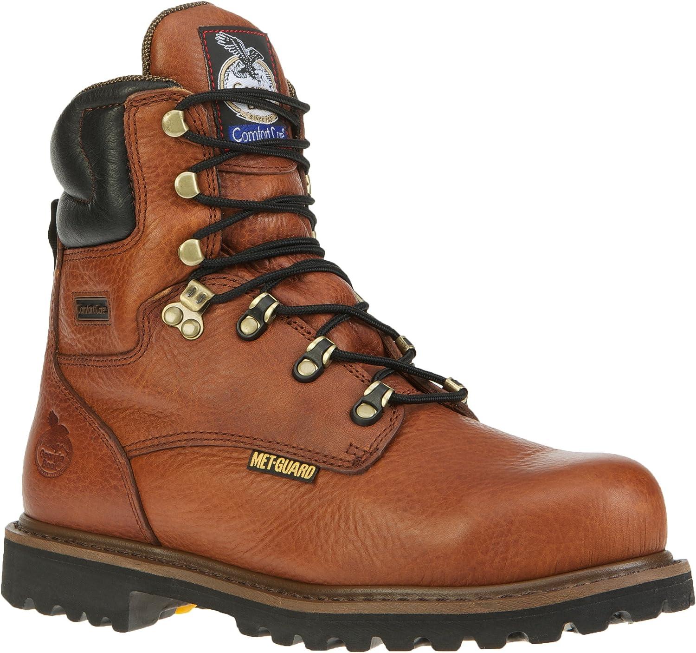 Georgia Men's 8  Internal Metatarsal CC Steel Toe Work Boot-G8315 Briar Brown