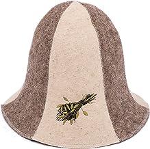 in feltro di lana leggero moderno protezione per la testa Wanfor per vasca idromassaggio per donne e uomini stile russo anti-calore Cappello per sauna