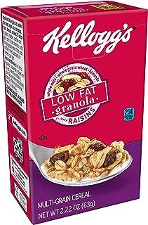 Kellogg's Breakfast Cereal, Low Fat Granola with Raisins, Low Fat, Good Source of Fiber, Single Serve, 2.2 oz Box(Pack of 70)