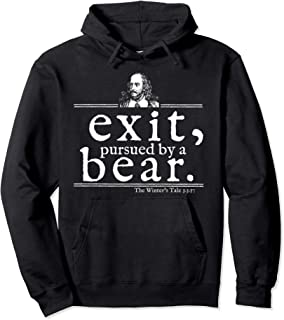 Exit Pursued Bear Shakespeare Hoodie Stage Director Gift