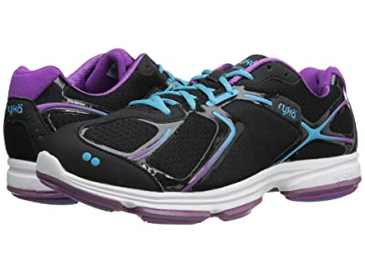 Ryka Devotion (Black/Bright Violet/Detox Blue 1) Women