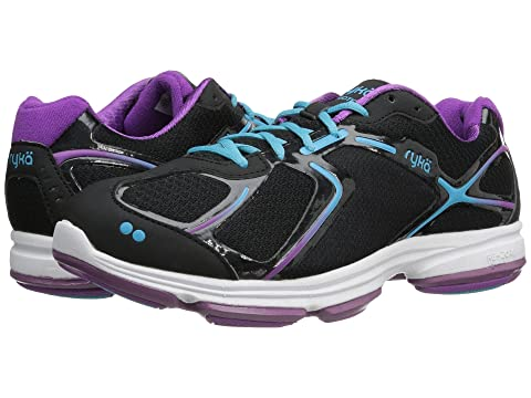Women's Athletic Shoes/ryka black bright violet blue devotion detox bi2e27z4