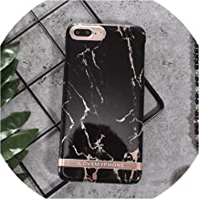 Rose Gold Marble Print Phone Case for iPhone Xs Max Xr Letter Hard Pc Cover Cases for iPhone X 6 6S 7 8 Plus,Style 3,for iPhone Xs Max