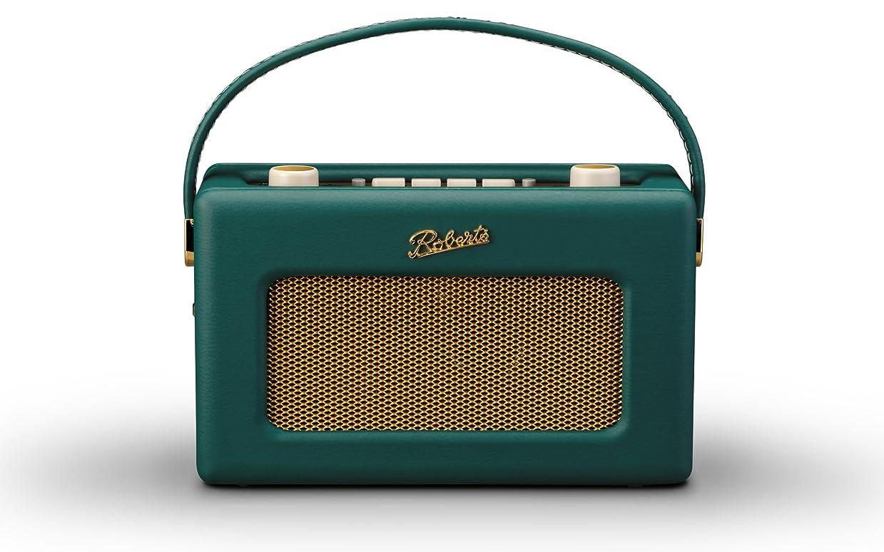 同化壁それからロバーツラジオ R300 レザークロス グリーン 英国王室御用達 日本仕様モデル ACアダプター付き