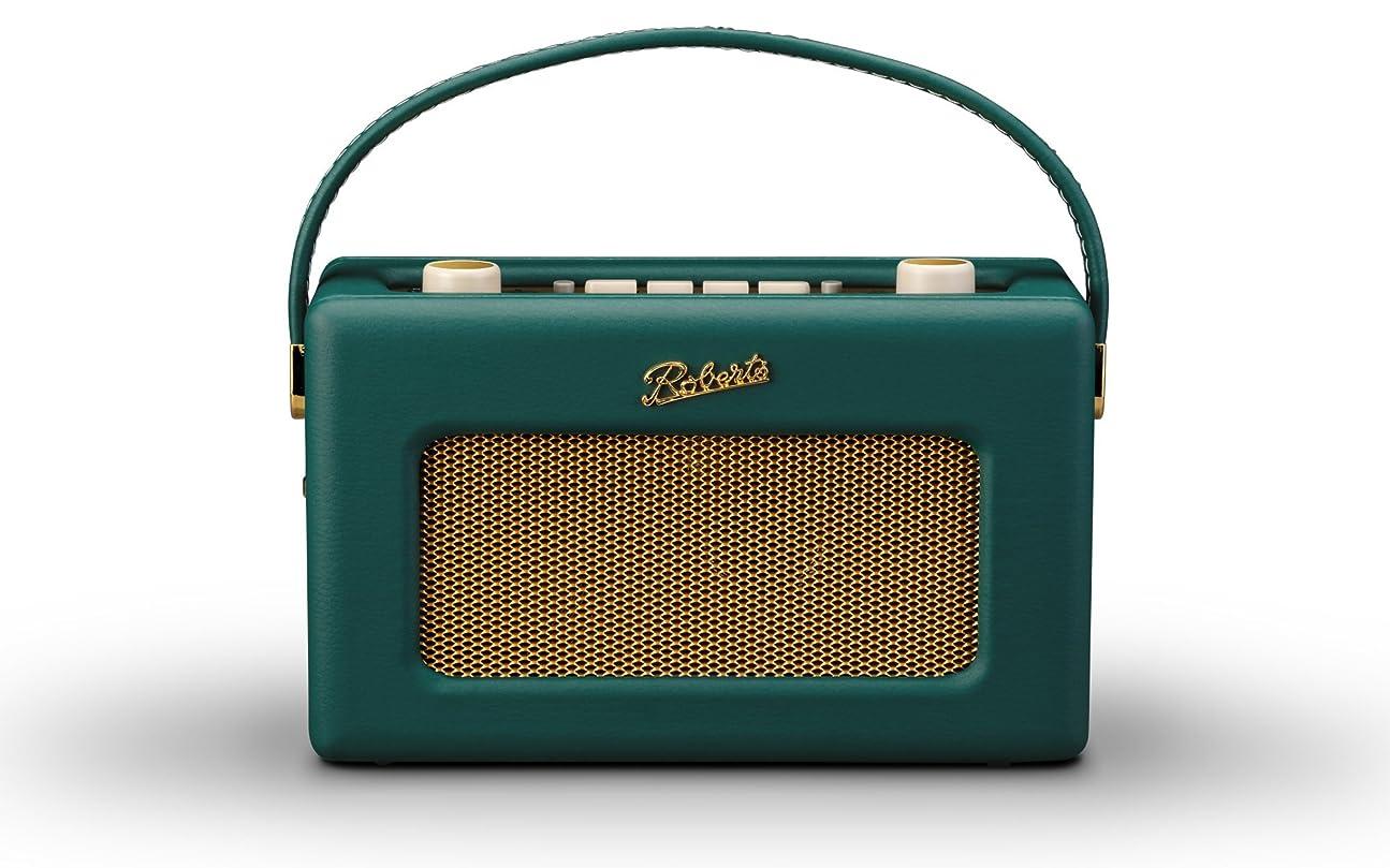 植物学者粘性の市長ロバーツラジオ R300 レザークロス グリーン 英国王室御用達 日本仕様モデル ACアダプター付き
