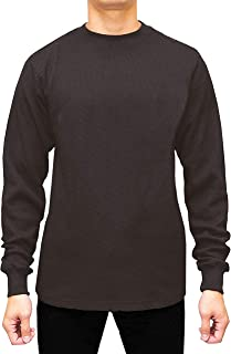 JMR Men's Heavy Weight Long Sleeve Waffle Thermal Shirt Crew Neck Top Underwear, Colors, Sizes