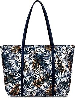 Floral Tote Bag Shoulder Bags For Women Nylon Messenger Bag For Teens Beach School