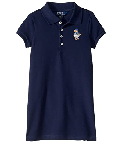 Polo Ralph Lauren Kids Bear Terry Dress (Toddler) (French Navy) Girl