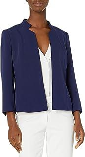 ANNE KLEIN Women's Stand Collar Open Front Jacket