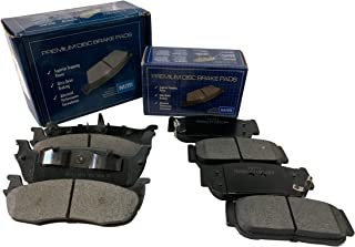 FRONT + REAR Mitti Disc Brake Pads 2 Complete Sets Fit Mazda RX-8