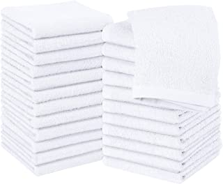 Utopia Towels Cotton Washcloths, 24 - Pack (White)