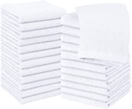 Utopia Towels Cotton Washcloths, 24 - Pack, White