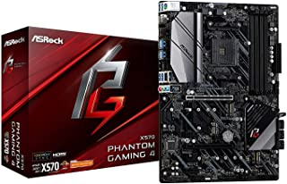 Asrock X570 Phantom Gaming 4 - Placa Base (AMD, Zócalo AM4, AMD Ryzen, DDR4-SDRAM, DIMM, 2133,2400,2667,2933,3200,3466 MHz)
