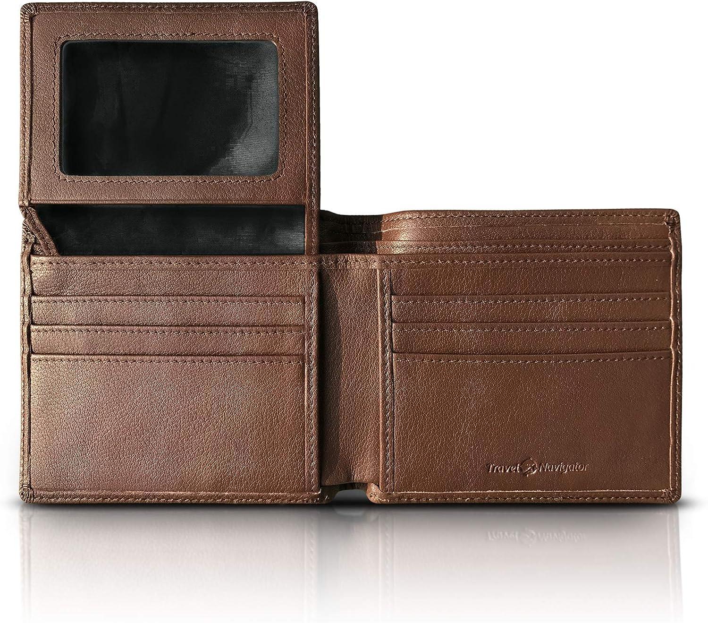 RFID Blocking Leather Wallets For Men, Black or Brown