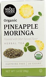 Whole Foods Market, Organic Herbal Tea, Pineapple Moringa (20 Count), 1.4 Ounce