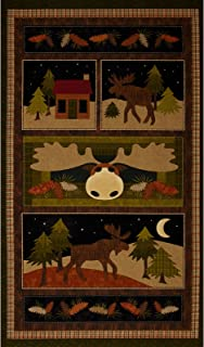 moose on the loose quilt fabric