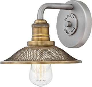 Hinkley 5290AN Rigby Wall Sconce, 1-Light 100 Watts, Antique Nickel
