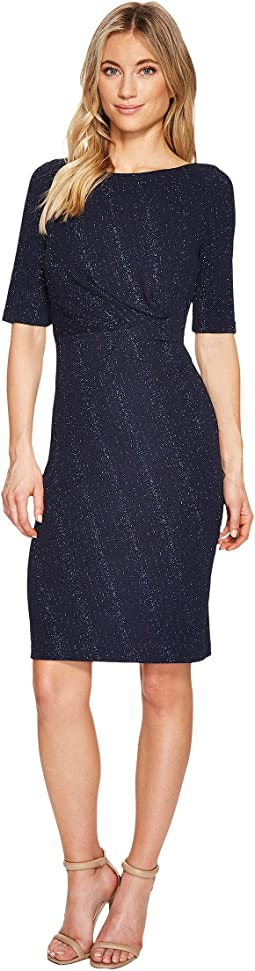 Adrianna Papell - Stretch Glitter Knit Sheath