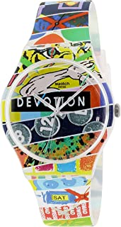 Swatch Unisex SUOZ170 Originals Analog Display Swiss Quartz Multi-Color Watch