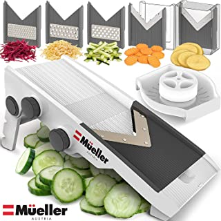 Mueller Austria Premium Quality V-Pro Multi Blade Adjustable Mandoline Cheese/Vegetable..