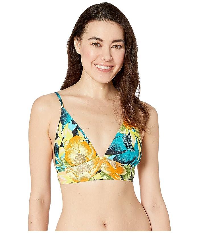 Lucky Brand Tropical Sunrise Triangle Bra Top (Multi) Women