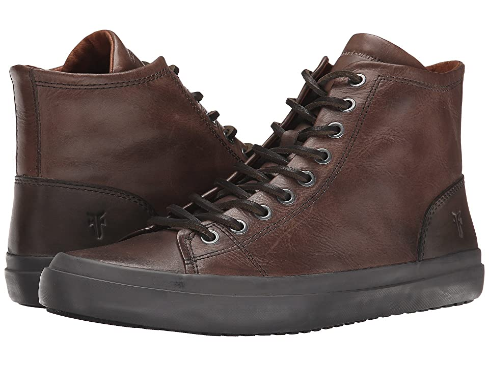 Frye Grand Tall Lace (Dark Grey Smooth Vintage Leather) Men