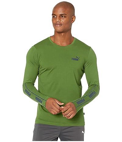 PUMA Amplified Long Sleeve Tee (Garden Green) Men