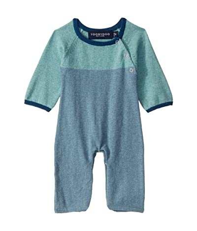 Toobydoo Sweater Jumpsuit (Infant) (Blue Color Block) Boy