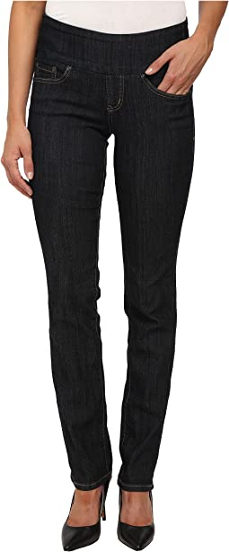 Peri Pull-On Straight Comfort Denim in Late Night