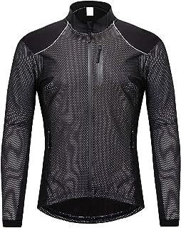 Small Oranges Winter Thin Thermal Fleece Cycling Jacket Men's Warm MTB Bike Clothing Sportswear