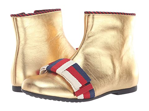 c0d73e6f822 Gucci Kids Bow Low Bootie (Little Kid) at Luxury.Zappos.com