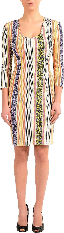 Just Cavalli Multicolor Stretch Bodycon Women's Dress
