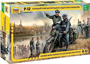 Zvezda 500783632 - 1:35 WWII Deutsche Krad R12 mit Besatzung