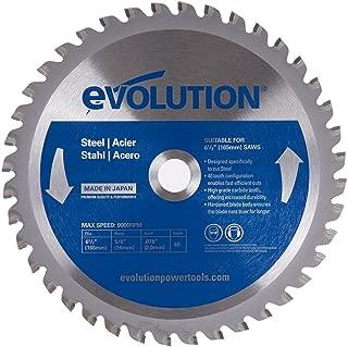 Evolution Power Tools 6-1/2BLADEST Steel Cutting Saw Blade, 6-1/2-Inch x 40-Tooth