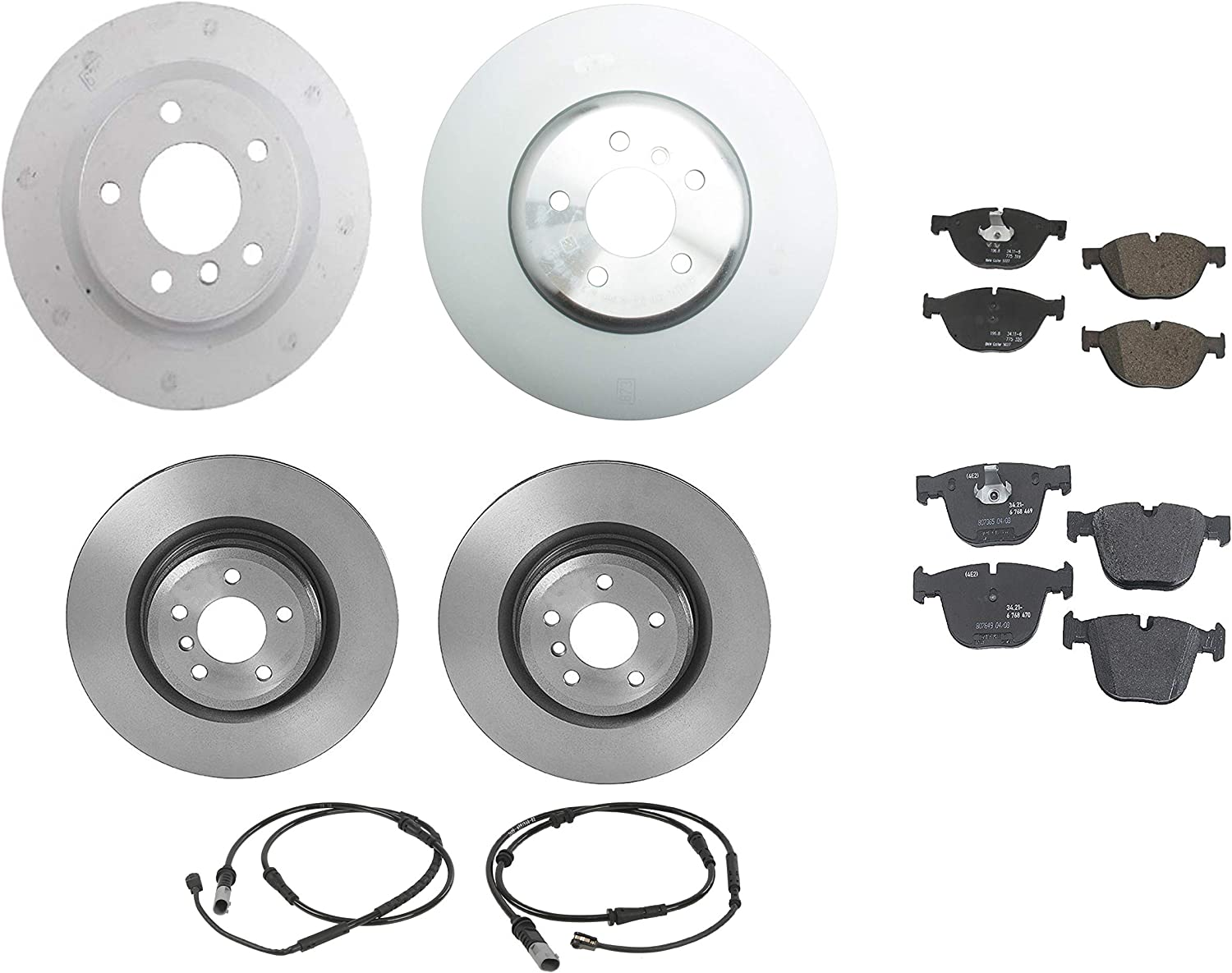 Front and Rear Genuine Brake Kit Disc Set Pads Today's only Rotors Senso with Raleigh Mall