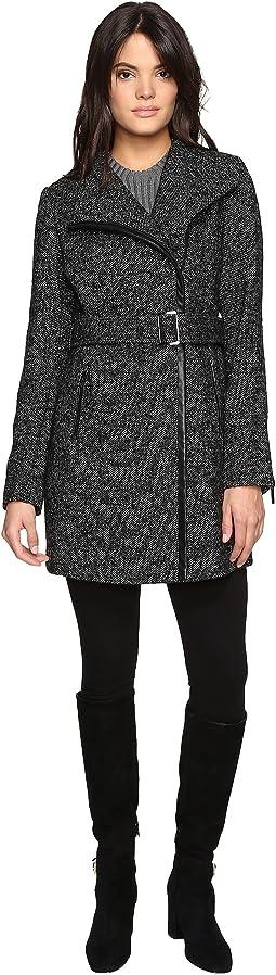 Asymetric Wool Tweed M222308T