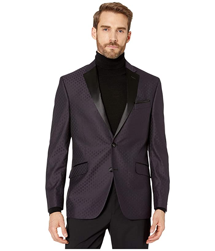 Kenneth Cole Reaction  Paisley Evening Jacket (Purple) Mens Jacket